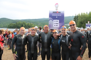 The Ironman Executive Challenge group, in Wave 2 with the Female Pros