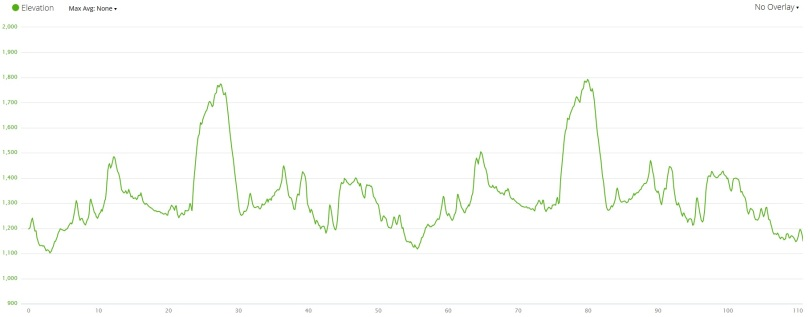 Bike Course Elevation Profile - Garmin