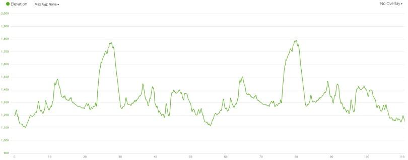 Bike Course Elevation Profile - Garmin