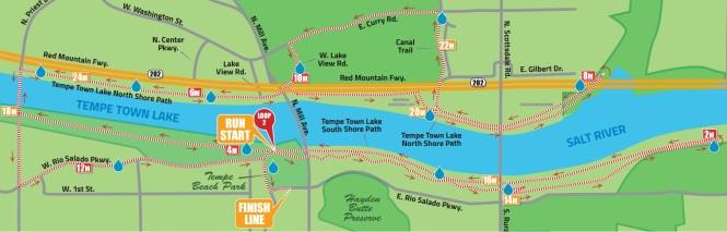 Ironman AZ Run Course